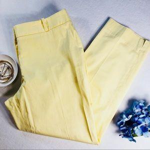 Talbots Pale Yellow Signature Crop Pants